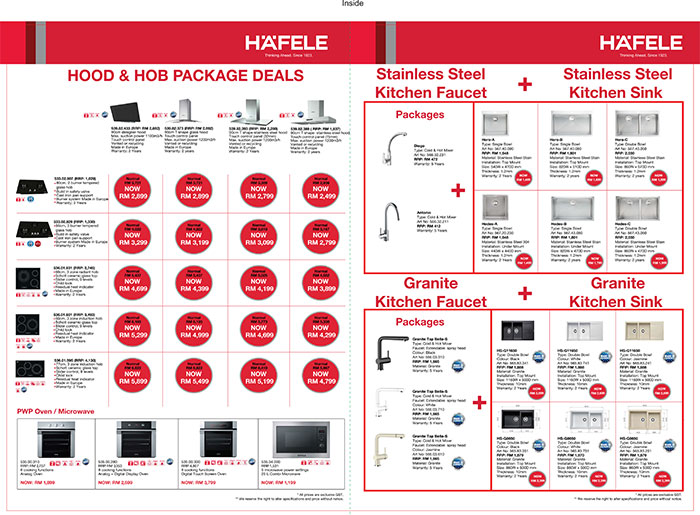 Häfele Home Appliances Packages 2016