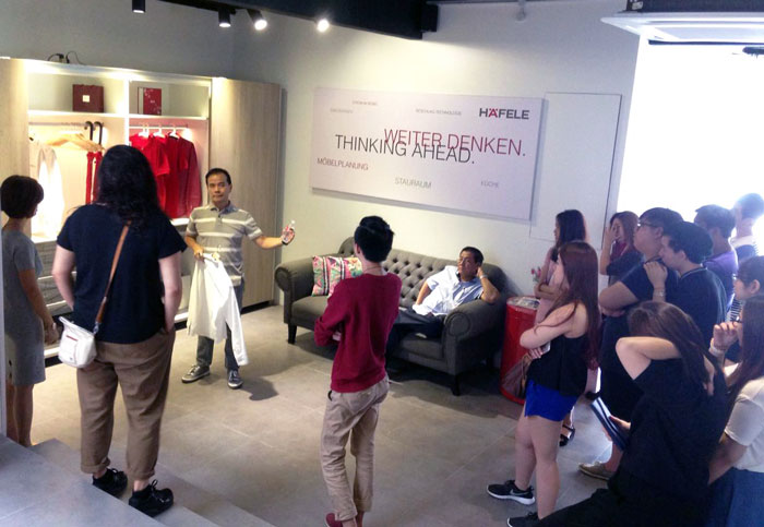 Häfele Design Centre Kuala Lumpur open its door to interior design students