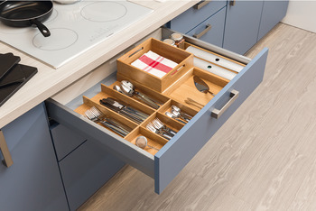 Aluminium clip, Drawer compartment system, universal, flexible