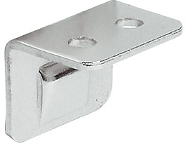 Angled striking plate, for furniture bolt, with ridge
