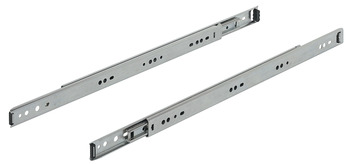 Ball bearing runners, full extension, Accuride 2601, load-bearing capacity up to 45 kg, steel, side mounting
