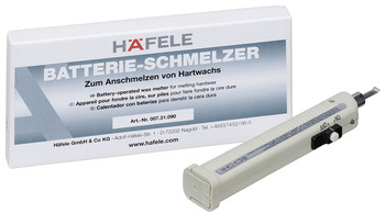 Battery operated wax melter, Häfele, for hard wax, surface products