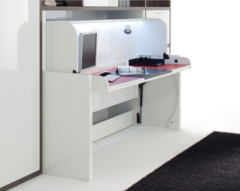 Bed/desk combi fitting, Tavoletto, bed/desk fitting