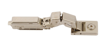 Concealed Hinge, 125°, for Glass/Mirror Doors, Glass Thickness 3-8 mm, Tiomos Mirro
