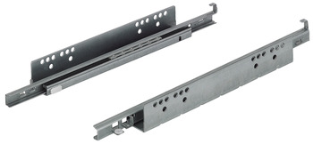 Concealed runners, TAF25 single extension, load-bearing capacity up to 25 kg, steel, installation with pins