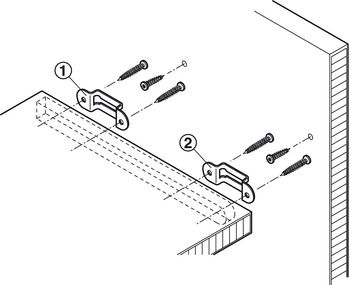 Connecting screws, Modular, without tip, for one-sided installation in wood in series drilled holes