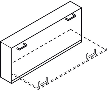 Foldaway bed fitting, Bettlift, for end mounting