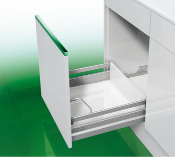 Gallery Railing , with Front Support, Rectangular Railing, for Nova Pro Standard Drawers