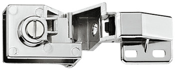 Glass door hinge, Opening angle 170°, full overlay mounting