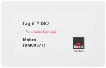 Macro key card, door open alarm, Dialock
