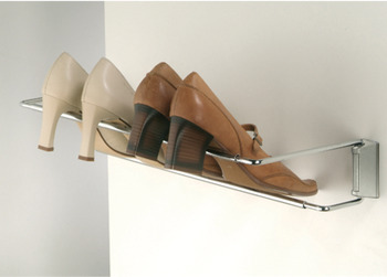 Shoe rack, continuously adjustable