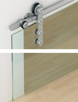Sliding door fitting, Slido D-Line 801 70Y / 100Y, set