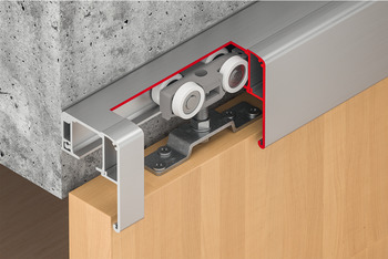 Sliding door fitting, Slido D-Line11 50P to 120P, set without running track