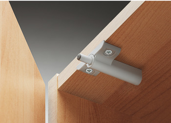 Soft-closing mechanism for doors, for inserting into adapter plate or drill hole
