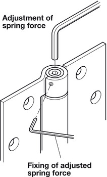 Spring hinge, for interior doors, Startec