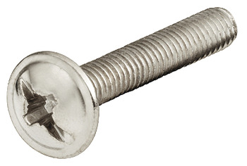 Threaded screw, Flat head, M4 combination cross slot, nickel plated
