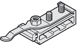 Track buffer, with adjustable retaining spring