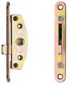 with Mortice and Hook Plates, Reversible, Brass